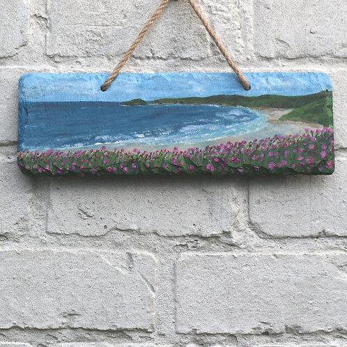 Sennen Cove Hand Painted Rectangle (30x10cm)