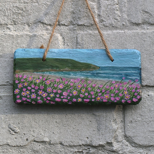 Whistle Cove Hand Painted Rectangle (18x8cm)