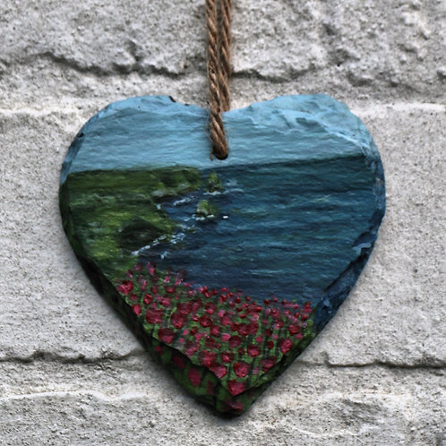 Stepping Stones Hand Painted Heart (10cm)
