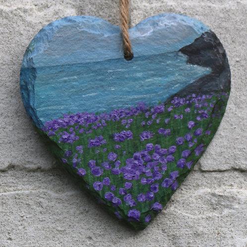 Dusky Cove Hand Painted Heart (10cm)