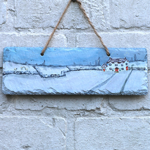 Long View Farm Hand Painted Rectangle (30x10cm)