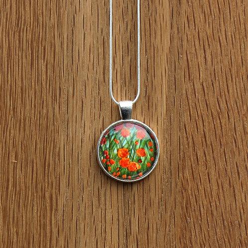 Orange Flower Pendant