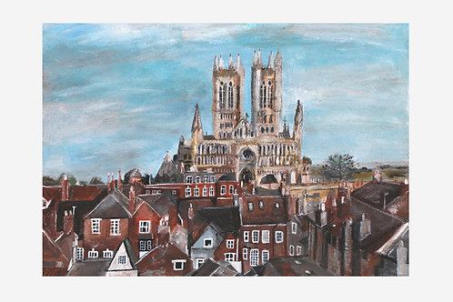 Castle Wall View (Lincoln Cathedral, Lincoln)