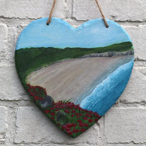 Beautiful Bay Hand Painted Heart (20cm)