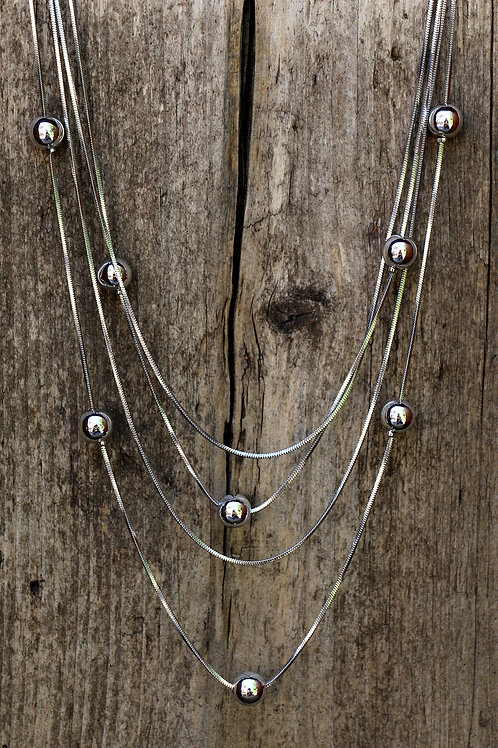 Multi Stand Ball Necklace