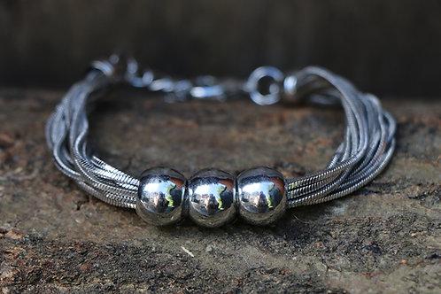 Three Ball Stranded Bracelt