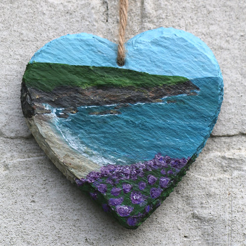 Calder Cliffs Hand Painted Heart (10cm)