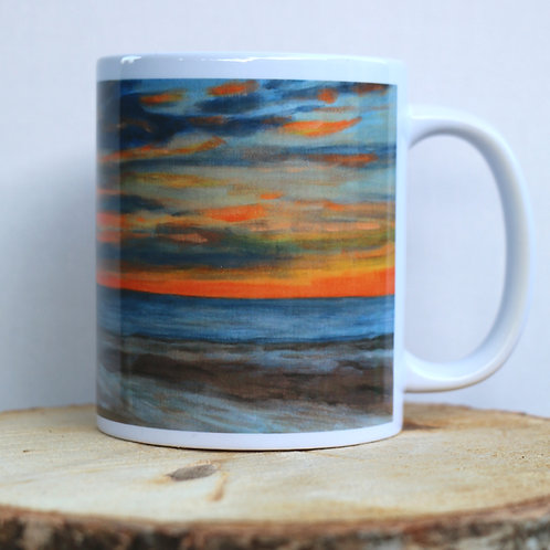 Stormy Sunset  (Seacliff Beach, Edingburgh) 11 oz Mug
