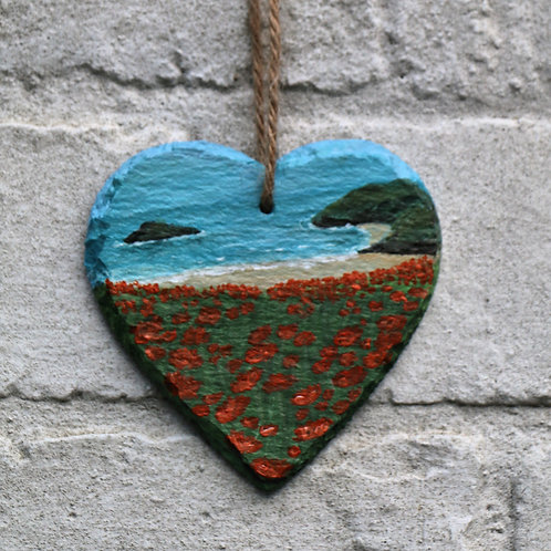 Little Cove Hand Painted Heart (10cm)