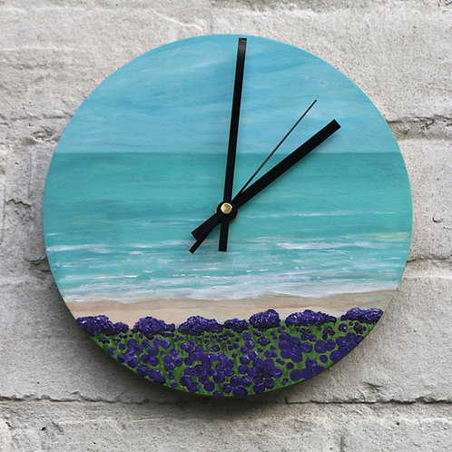 Hand Painted Broad Coast Beach Clock