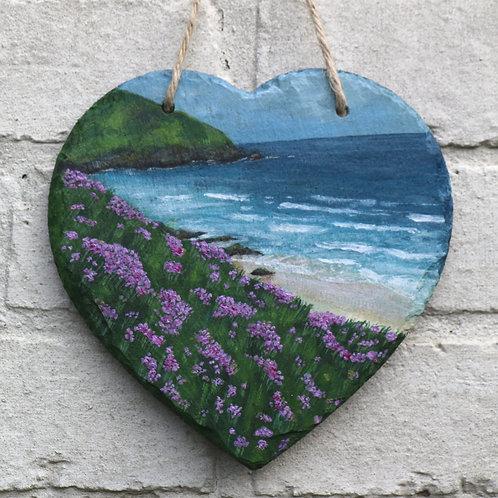 Slea Head Drive Hand Painted Heart (20cm)