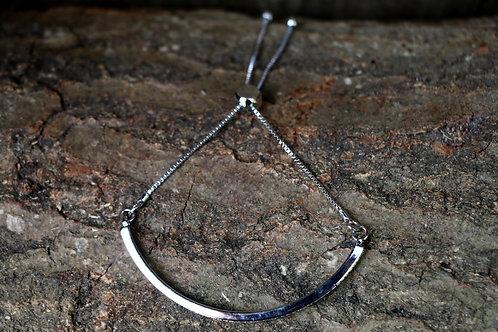Half Circle Diamante Adjustable Bracelet