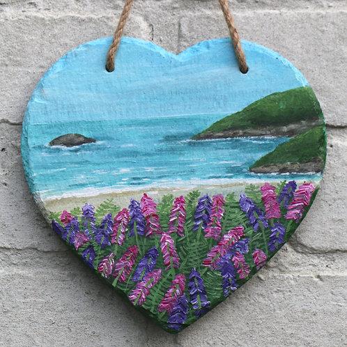 Foxglove Cove Hand Painted Heart (20cm)