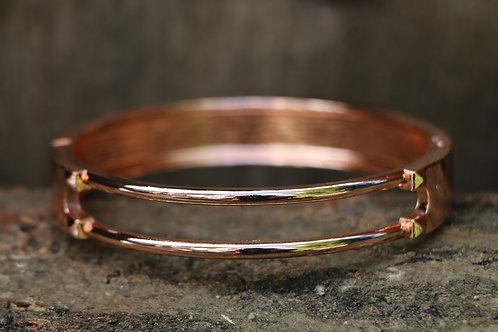 Twin Lock Bracelet - Rose Gold