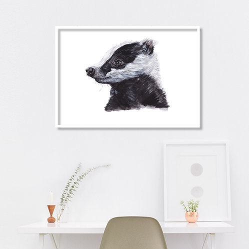 Badger - Gallery Quality Print