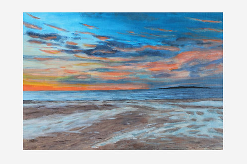 Stormy Sunset  (Seacliff Beach, Edingburgh)