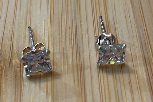Square Cubic zirconia Ears