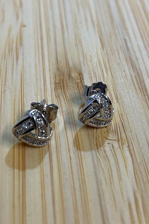 Cubic Zirconia Knot Ears
