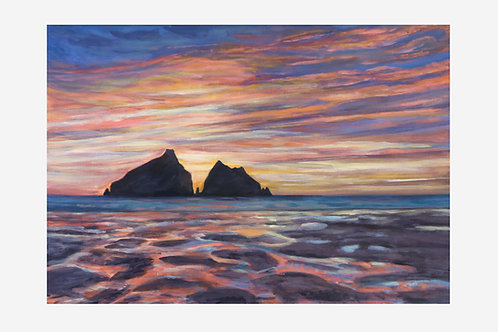 Sunset Rocks (Holywell Bay, Cornwall)