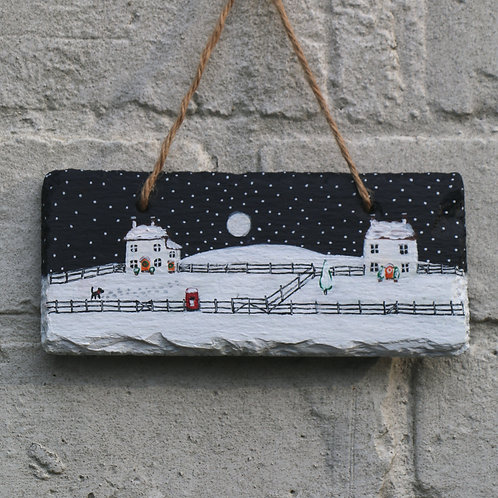 The Old Post Office Hand Painted Rectangle (18x8cm)