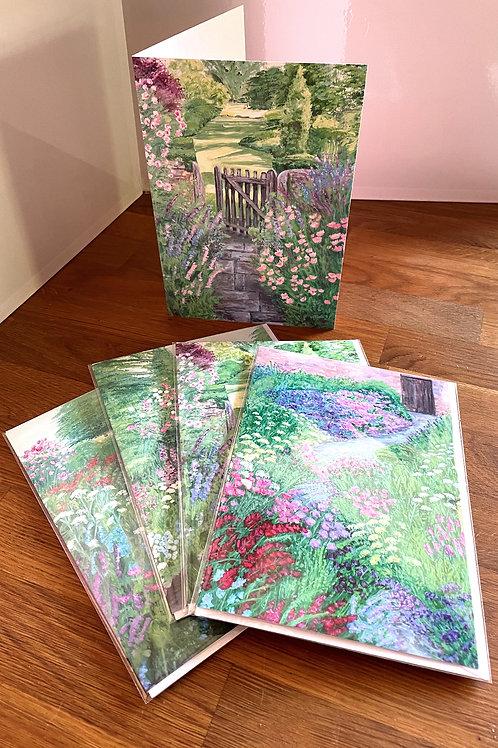 Set of 4 English Garden Cards