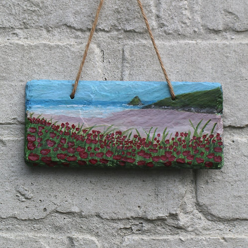 Pink Sands Hand Painted Rectangle (18x8cm)
