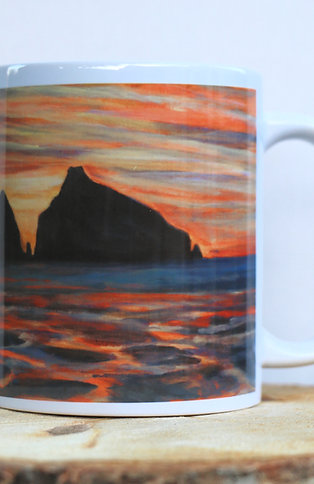 Sunset Rocks (Holywell Bay, Cornwall) 11 oz Mug