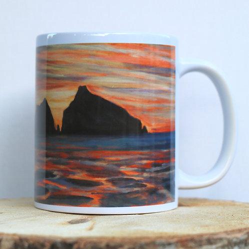 Sunset Rocks (Holywell Bay, Cornwall) 11 oz Mug