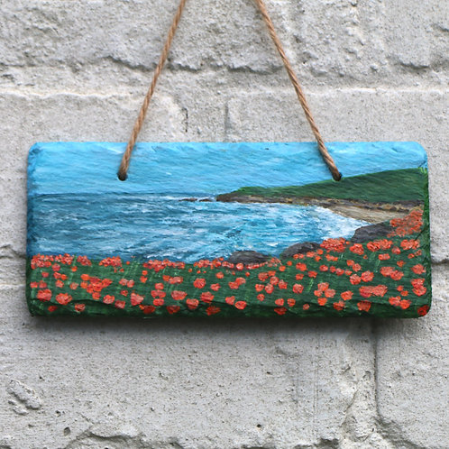 West Bay Hand Painted Rectangle (18x8cm)