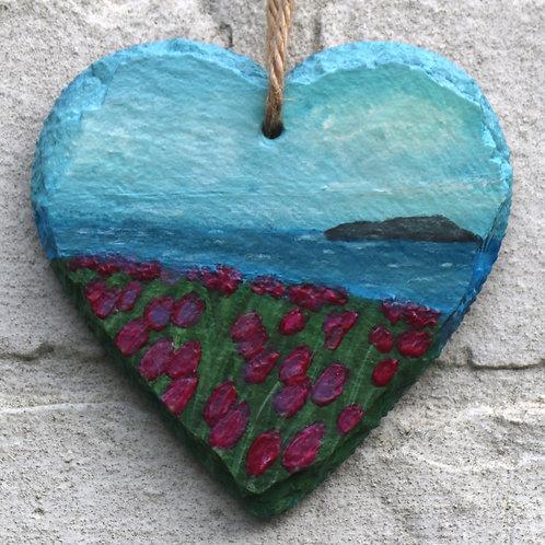 Tulip Island Hand Painted Heart (10cm)