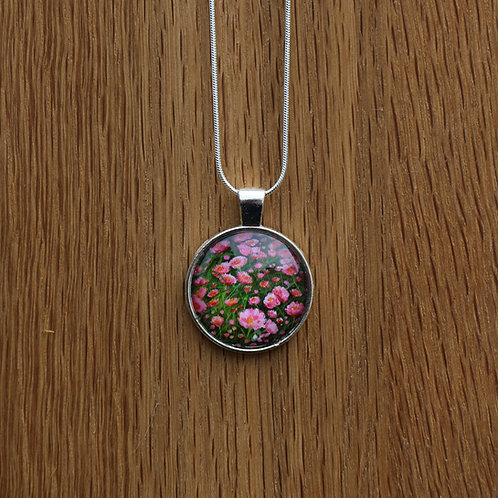 Pink Flower Petal Pendant