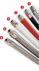 Удобные, гибкие термоизолированные шланги для пара. Используются для подключения гладильных столов, прессов, паровых манекенов, стиральных машин и машин химчистки к паровой линии.
