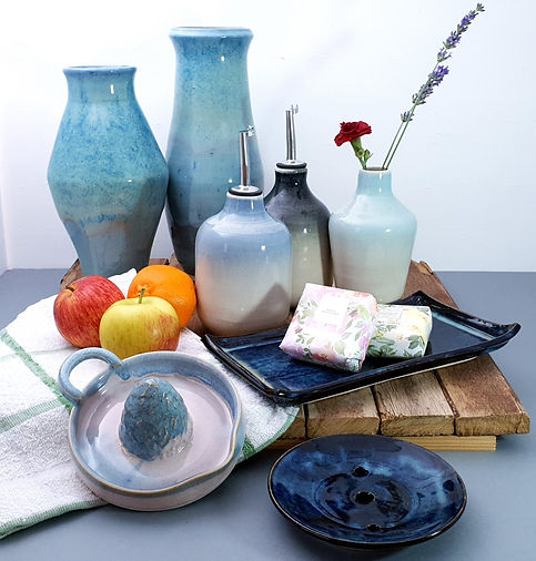 Ceramic Bottles and Homeware, Pottery Tableware, Handmade Pottery From Oxfordshire