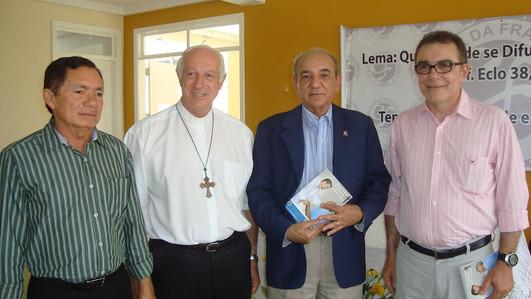 Sr. Neuzo Leite, Bispo Dom Mariano Manza
