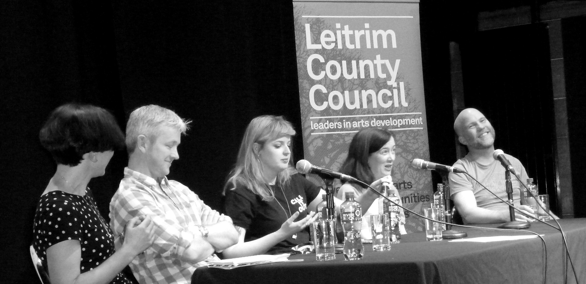 Helen Carr with Colm Keegan, Sarah Maria Griffin, Anna Carey and Tom Swift
