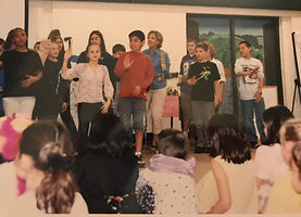Performing with my students at Lincoln Prairie School.