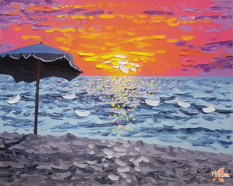 Umbrella Sunset