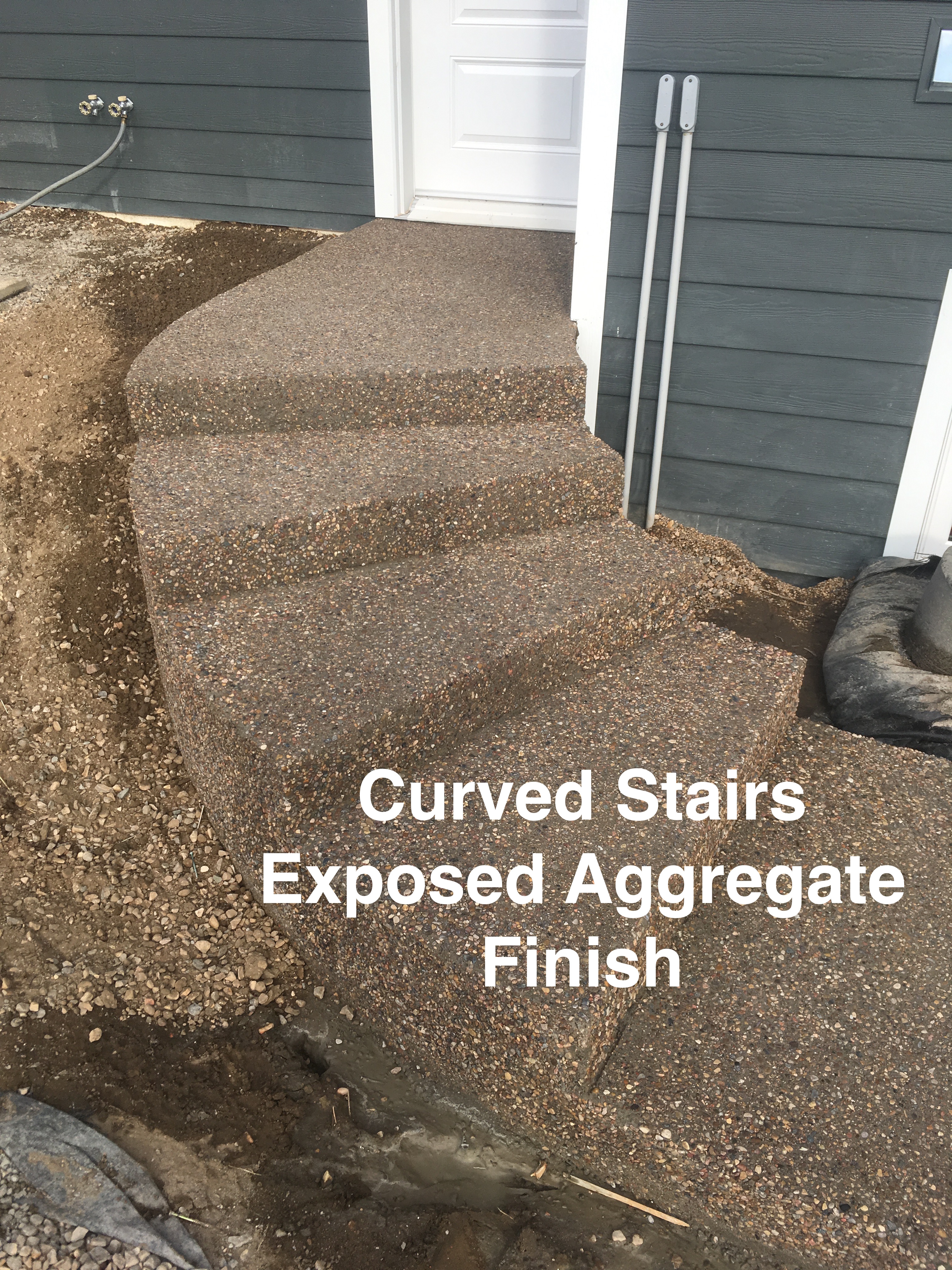 Curved Exposed Stairs