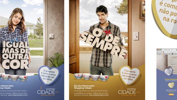 Campanha Integrada Namorados Shopping Cidade