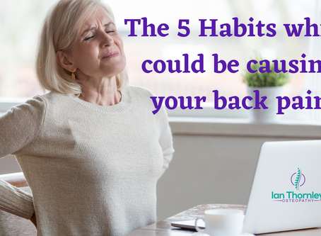 5 Habits That Could be Causing Your Back Trouble