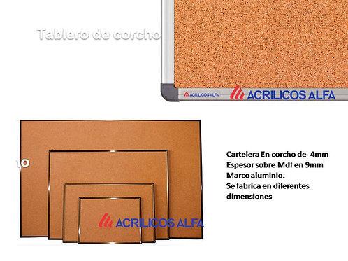 CARTELERA CORCHO  DE 80 X 60 CMTS