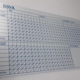 Tablero en vidrio BBVA