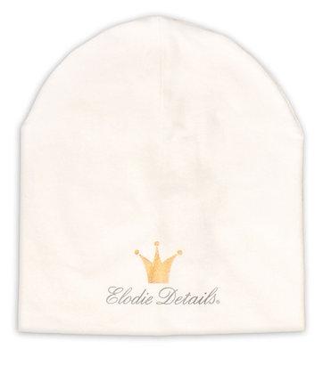 ELODIE DETAILS Logo Beanie vanilla white