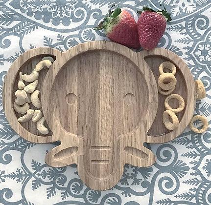 PIXISTUFF Snackteller Elefant aus Holz