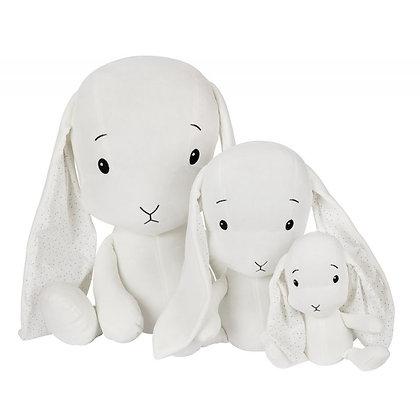 EFFIKI Bunny weiss mit Ohren Dots (Grössen 20cm, 35cm, 50cm)