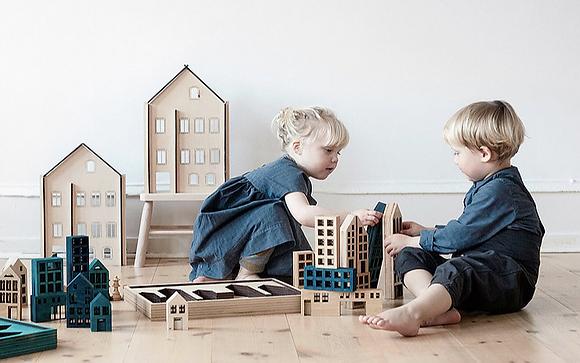 "KOLEKTO 3D-Puzzle und Spielhaus ""Metropol wood"" aus Holz"