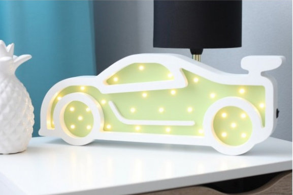 HAPPYMOON Nachtlampe LED Sportcar in 2 Farben