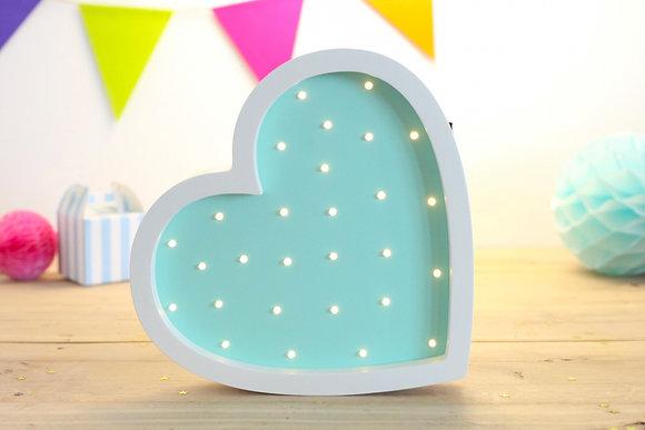 HAPPYMOON Nachtlampe LED Herz in 3 Farben