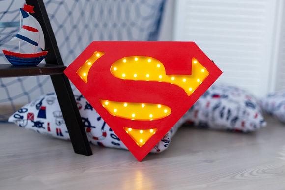HAPPYMOON Nachtlampe LED Superman