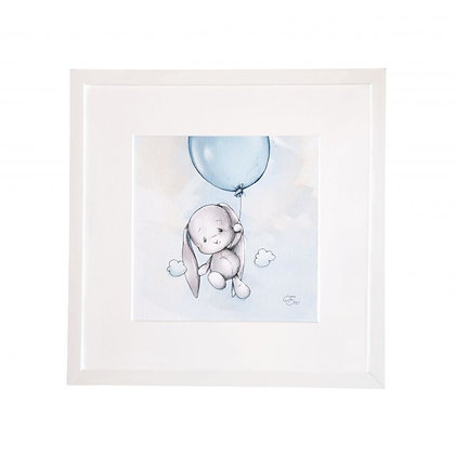 EFFIKI Bild Balloon blau 27 x 27 cm